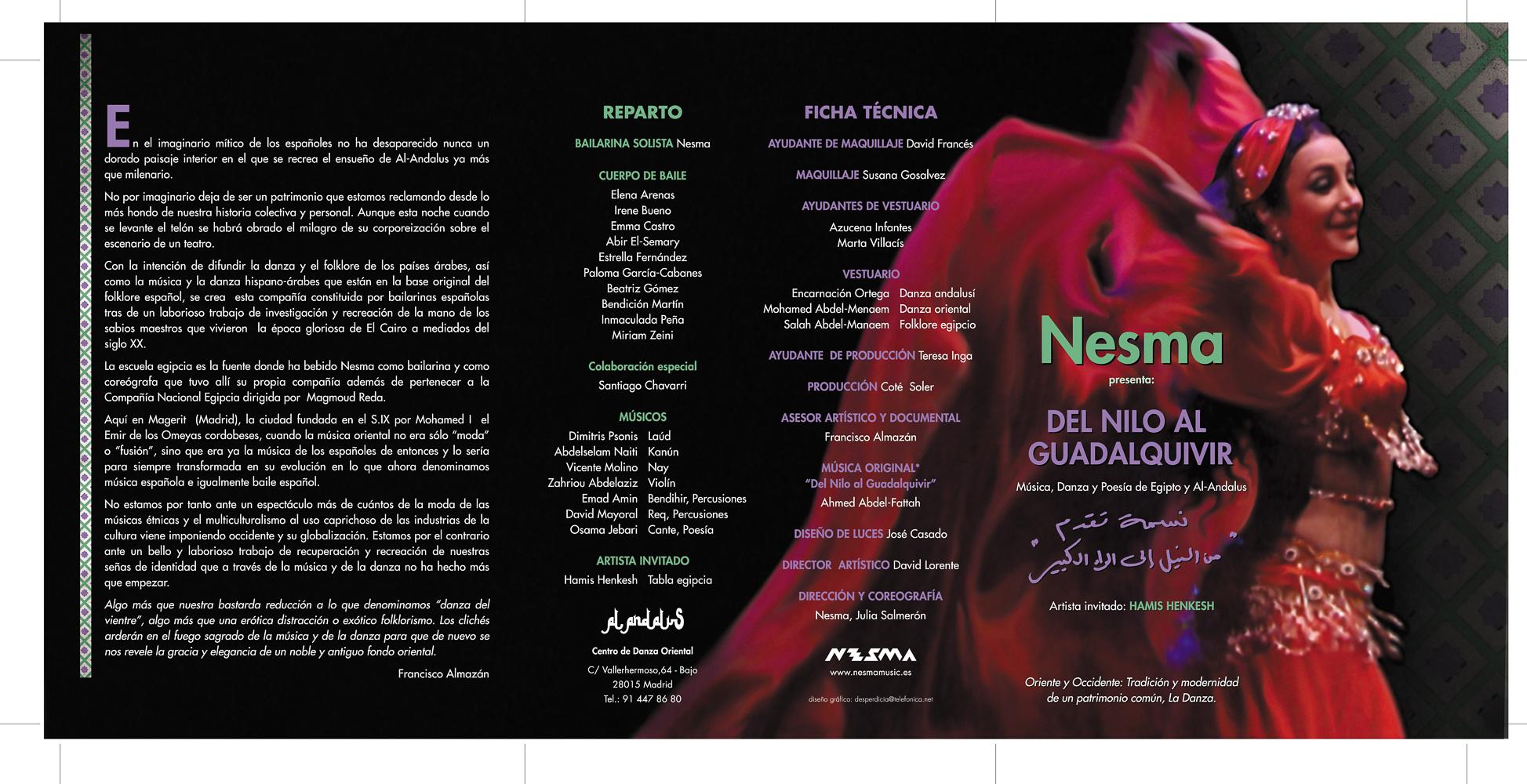 Nesma del Nilo al Guadalquivir espectáculo en Madrid